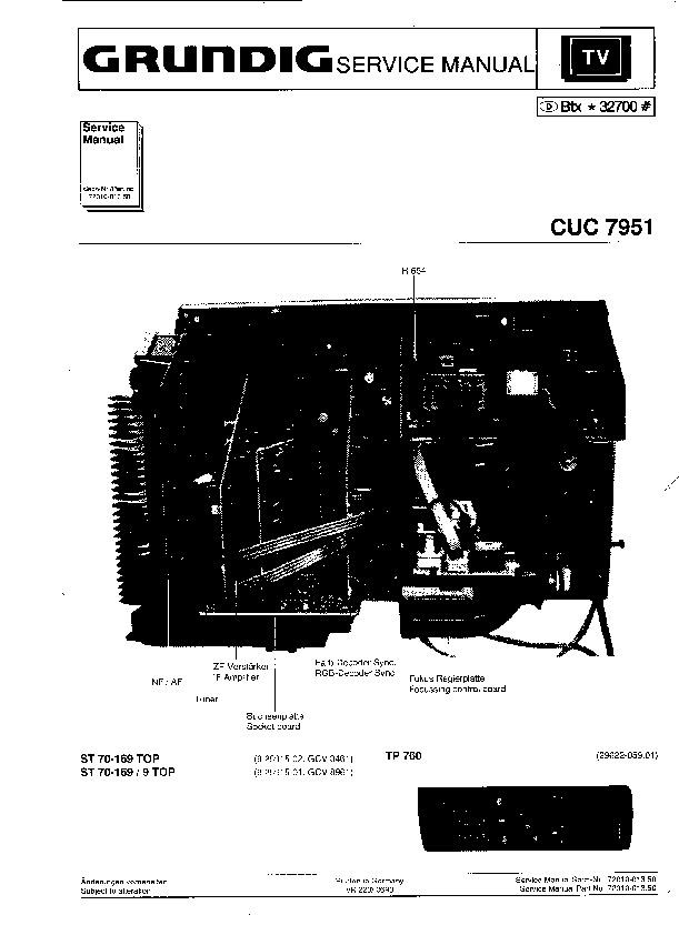 Download Grundig_013_5000_CUC7951.pdf Service diagram. Free manual ...
