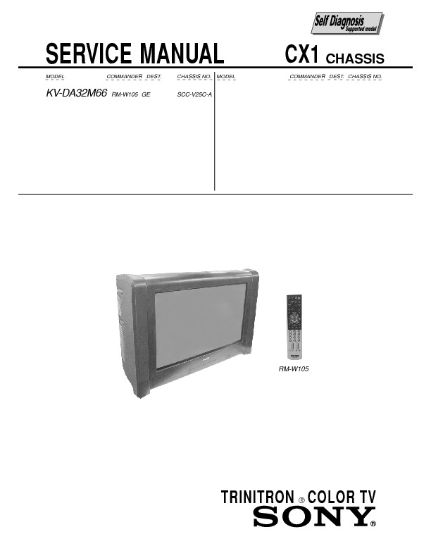 Download KV-DA32M66_cx1.pdf Service diagram. Free manual and ...