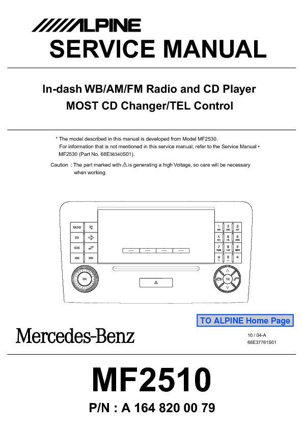 Download alpine_mercedes_carradio_cd_mf2510.pdf Service diagram ...